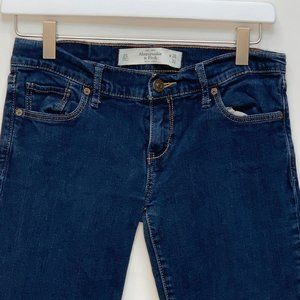Abercrombie & Fitch Womens Designer Blue Jeans